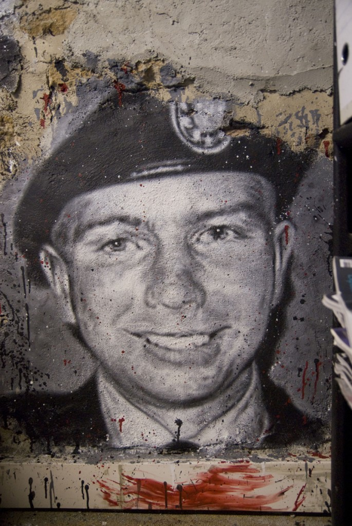 "US soldier Chelsea Manning graffiti in the ""Abode of Chaos"" museum of contemporary art, in Saint-Romain-au-Mont-d'Or, Rhône-Alpes region, France, via Wikimedia Commons"