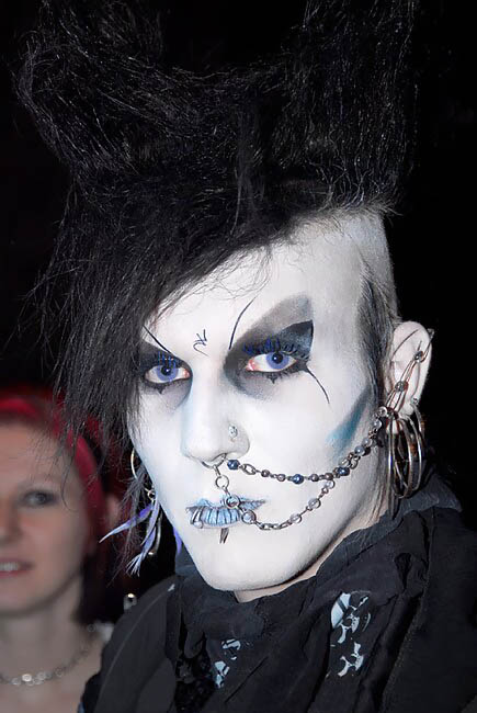 Not necessarily healthy goth, via Wikimedia commons