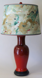 lamp with red base