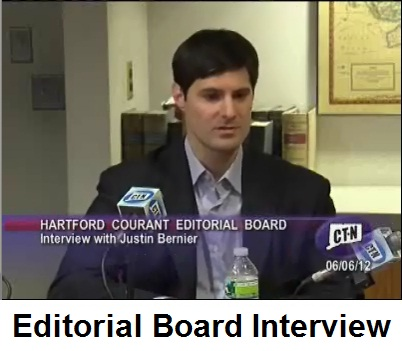Click here to watch Justin Bernier's interview with the Courant's editorial board