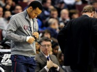 It started out doubtful that UConn&#039;s Shabazz Napier would play in Thursday&#039;s game but within minutes of the first half, Coach Blaney had him taking off his warm-ups to head into the Huskies&#039; 73-70 overtime win over Villanova at the Wells Fargo Arena in Philadelphia. Napier had a strained ligament in his right foot but ended up sinking a buzzer-beating three in OT to win the game.