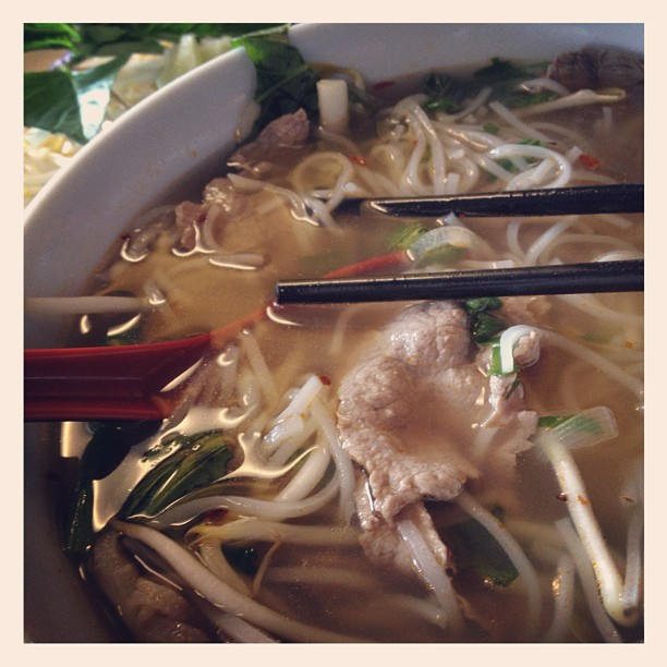 Pho soup at Pho 75 in Windsor Locks