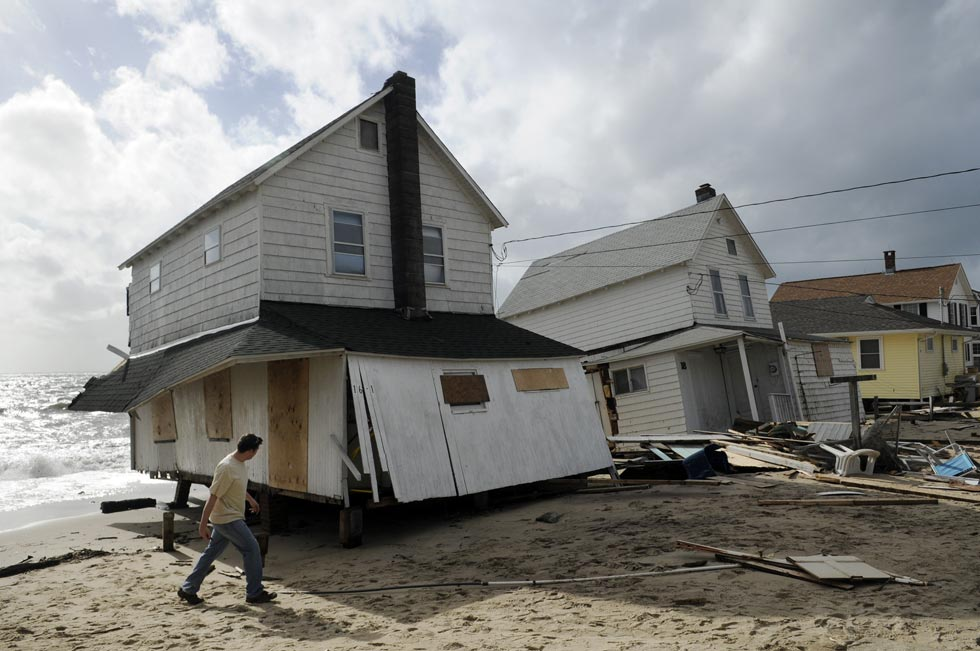 Several cottages that have stood by the water for decades were destroyed by Sandy's massive tidal surge Monday night at Hawk's Nest Beach.
