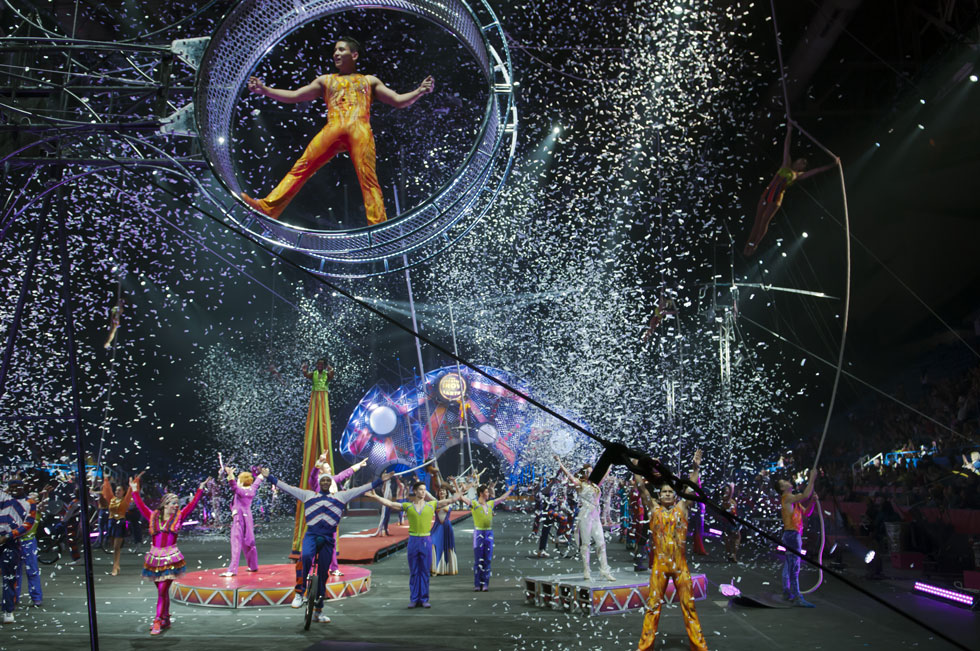 2013.05.10 - Hartford, CT - Performers close out the second of eight Ringling Brothers and Barnum & Bailey shows running through Sunday May 12 at the XL Center. Photograph by Mark Mirko | mmirko@courant.com