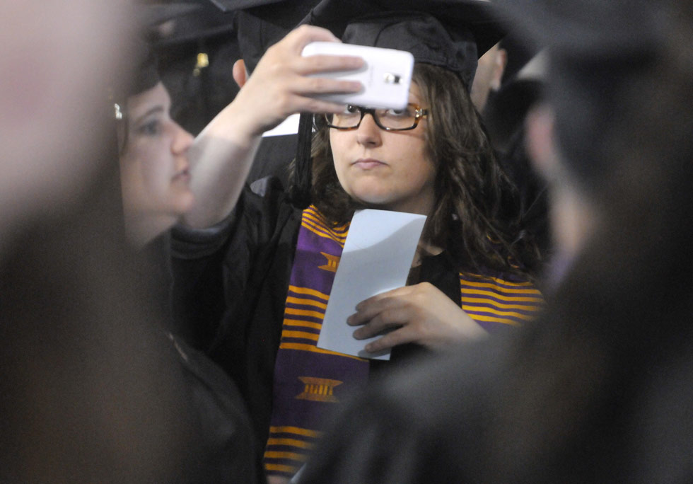 Southern Connecticut State University commencement exercises at Webster Bank Arena Friday morning.
