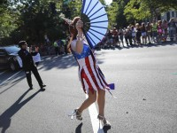 A drag queen dressed in red, white and blue takes part in the gay-pride themed Capital Pride Parade in Washington, June 8, 2013. REUTERS/Jonathan Ernst