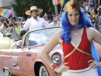 Lynda Carter, who played Wonder Woman on television, is the grand marshal for the gay-pride themed Capital Pride Parade in Washington, June 8, 2013. REUTERS/Jonathan Ernst