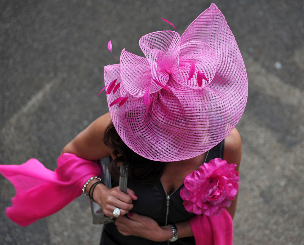 Fancy hats are a tradition at the Royal Ascot. AFP PHOTO/CARL COURT/AFP/Getty Images