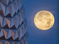 The Supermoon is seen with the Epcot center geodesic sphere in the foreground on June 23, 2013 at Walt Disney World Resort in Lake Buena Vista, Florida. A Supermoon will not occur again until August 10, 2014. David Roark/Disney Parks via Getty Images