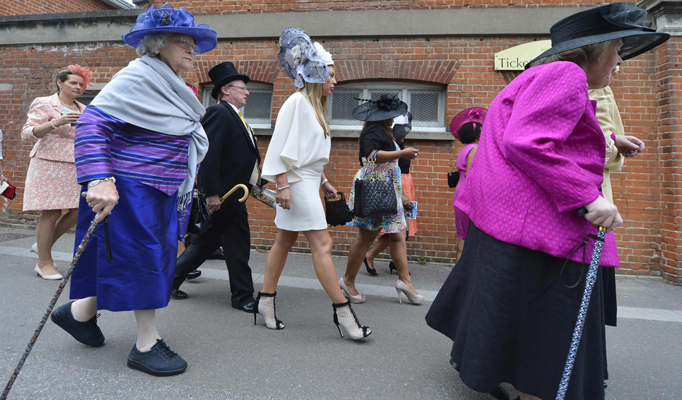 Racegoers arrive for Ladies' Day at the Royal Ascot. REUTERS/Toby Melville