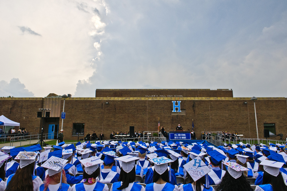 2013.06.24 - West Hartford, CT - Hall High School graduation.  Photograph by Mark Mirko | mmirko@courant.com