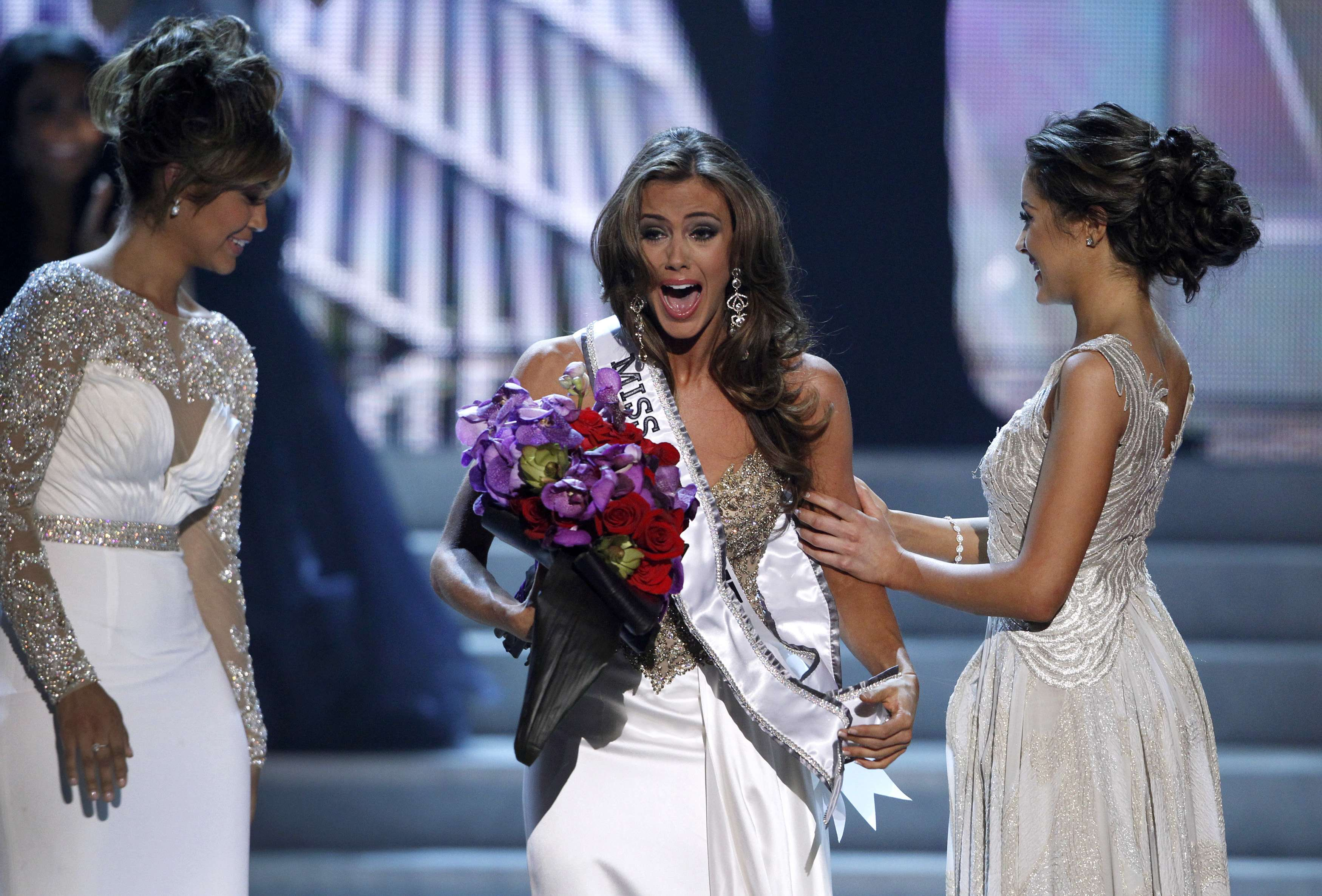Miss Connecticut Erin Brady competes in the swimsuit portion of the Miss USA pageant at the Planet Hollywood Resort and Casino in Las Vegas, Nevada June 16, 2013. Brady was later crowned Miss USA 2013.