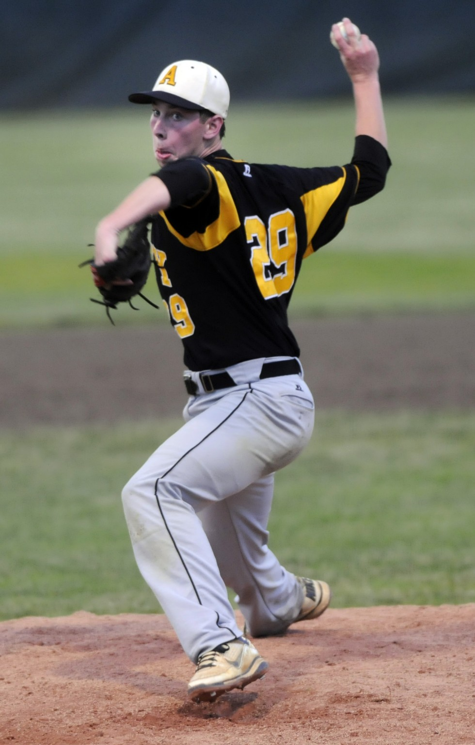 Amity's Michael Concato, pitched a complete game two hitter to lead his team to the championship. Amity High School beat Southington High School in the CIAC Class LL Baseball Championship in a game played at Palmer Field in Middletown by a score of 4 to 0.