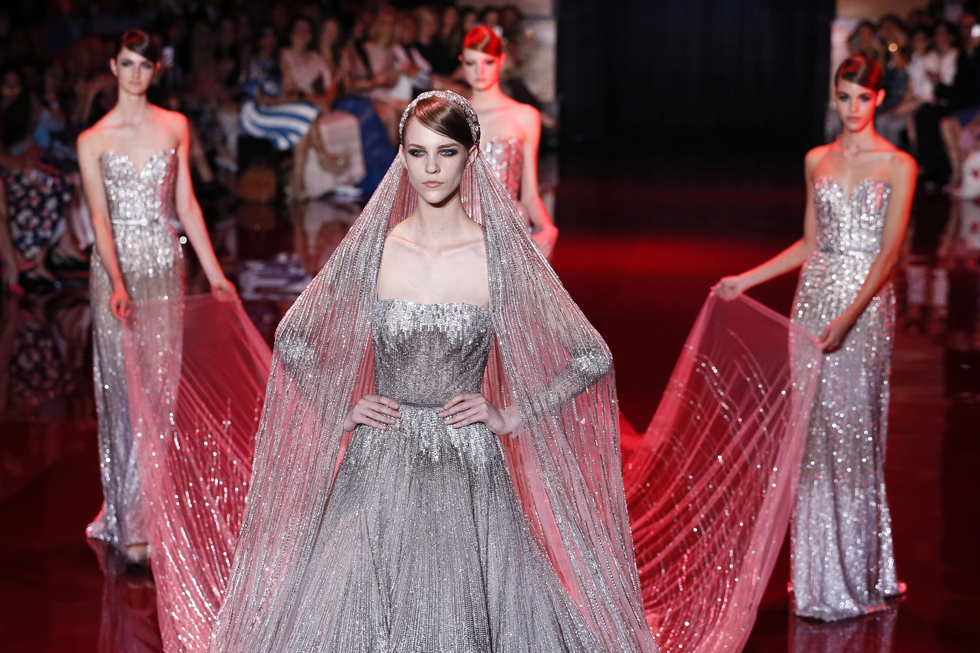 Elie Saab. AFP PHOTO/PATRICK KOVARIK/AFP/Getty Images