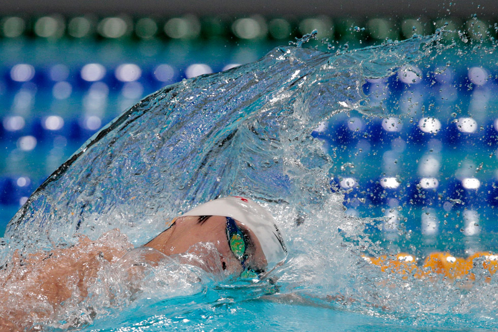 The men's 800m Freestyle competition. (Photo by Adam Pretty/Getty Images)