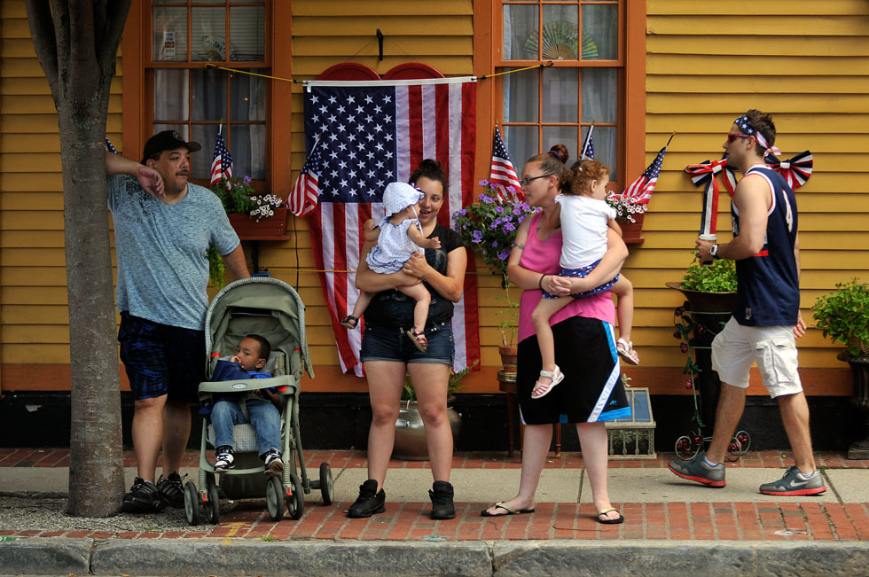 There was plenty of American Spirit to be found along the route as homes, businesses and people showed their red, white and blue pride.