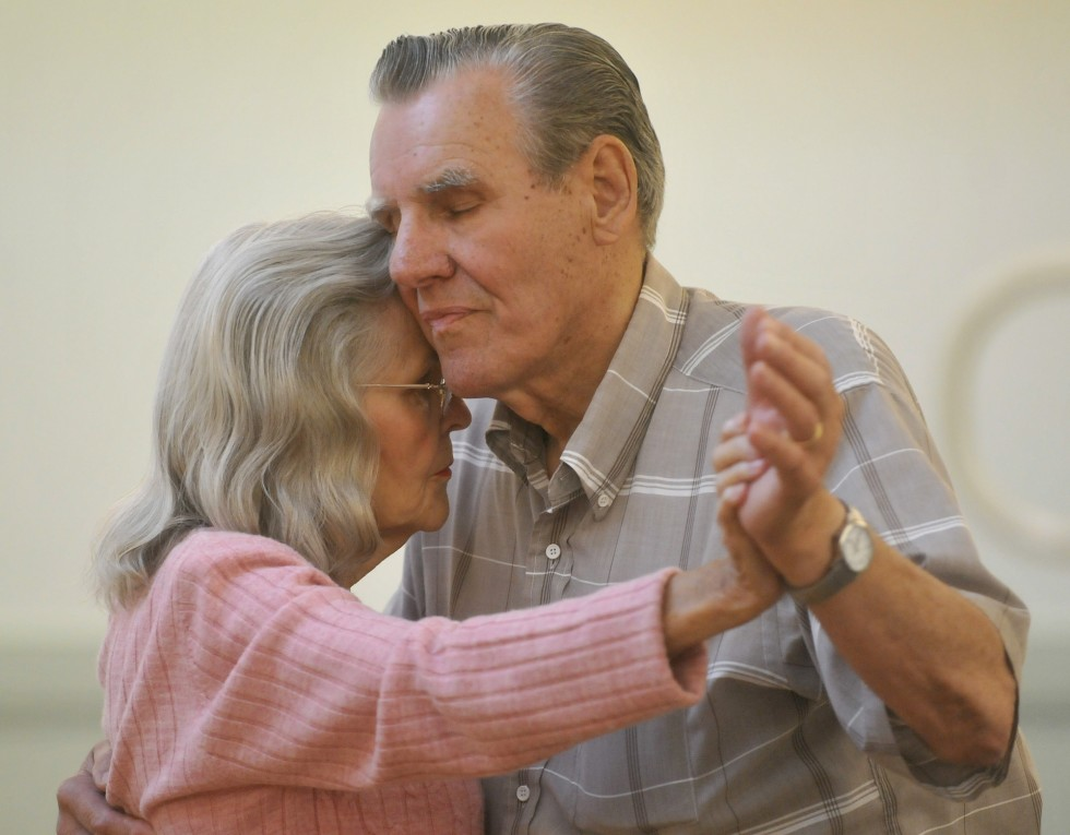 2013.07.26 – Enfield, CT – Joe and Evelyn Weidl, married 62 years, dance at the Enfield Senior Center's monthly ballroom dance. The Weidls are Enfield residents. Photograph by Brad Horrigan | bhorrigan@courant.com
