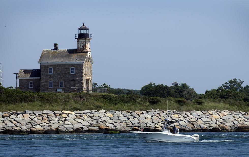 The original lighthouse on Plum Island is a familiar site to boaters traveling through Plum Gut.