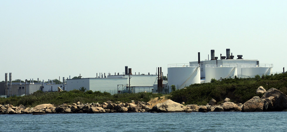 The current lab facility on Plum Island is surrounded by fences and No trespassing signs.