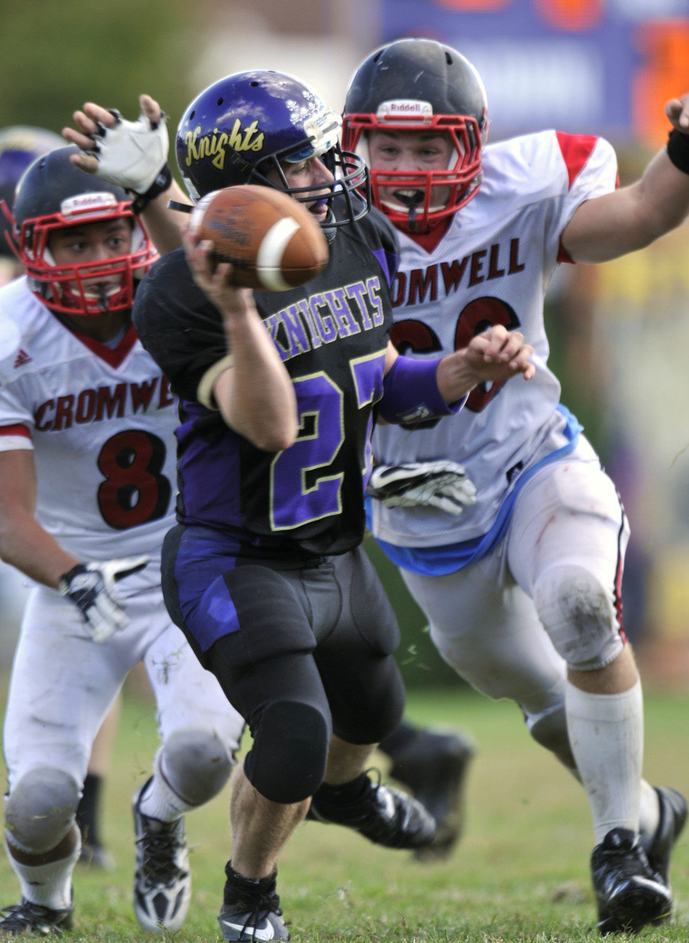 Cromwell versus Ellington/Somers High School Football