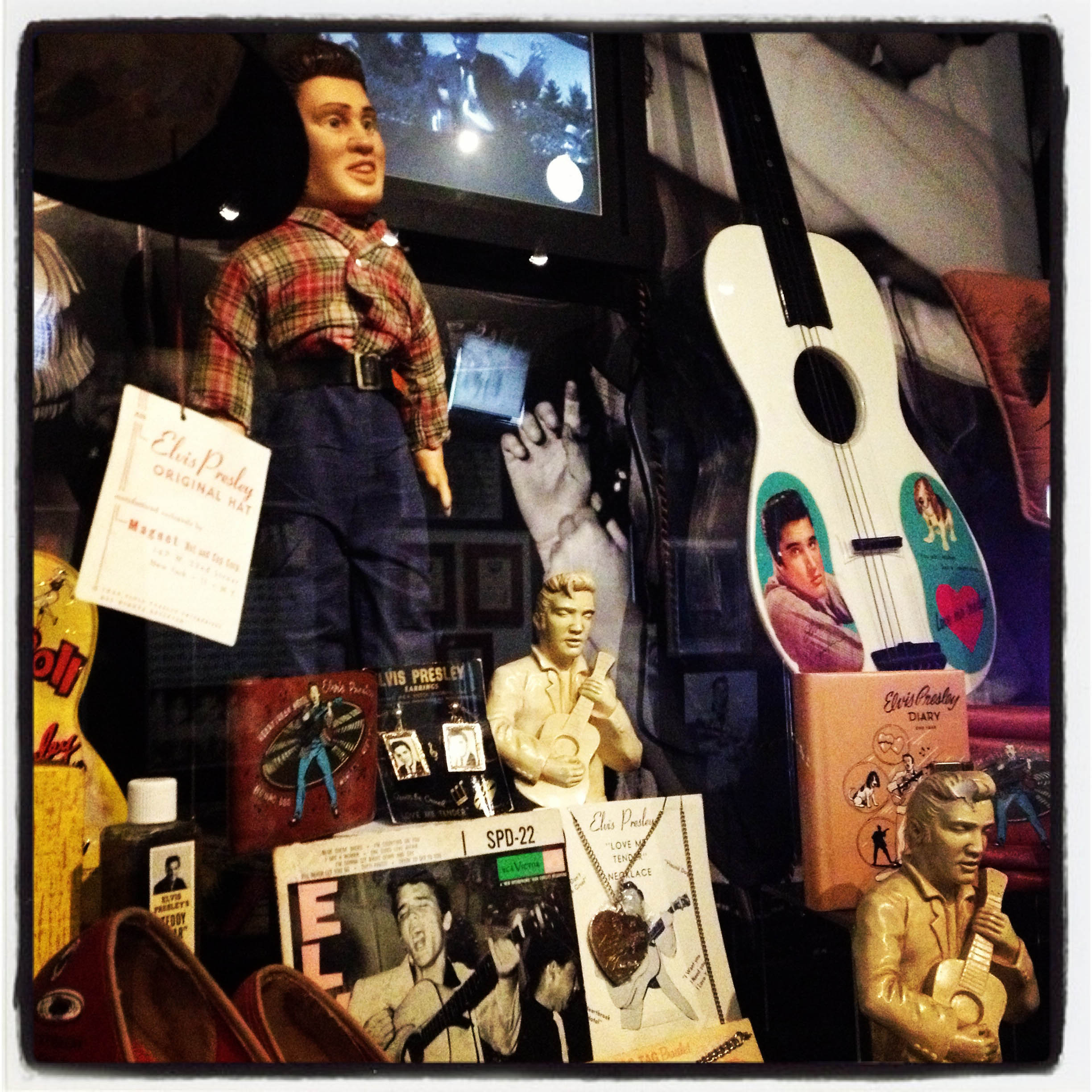 MEMPHIS, TN 01/03/14 The display cases at Graceland are full of eclectic Elvis Presley merchandise and memorabilia.  CLOE POISSON|cpoisson@courant.com