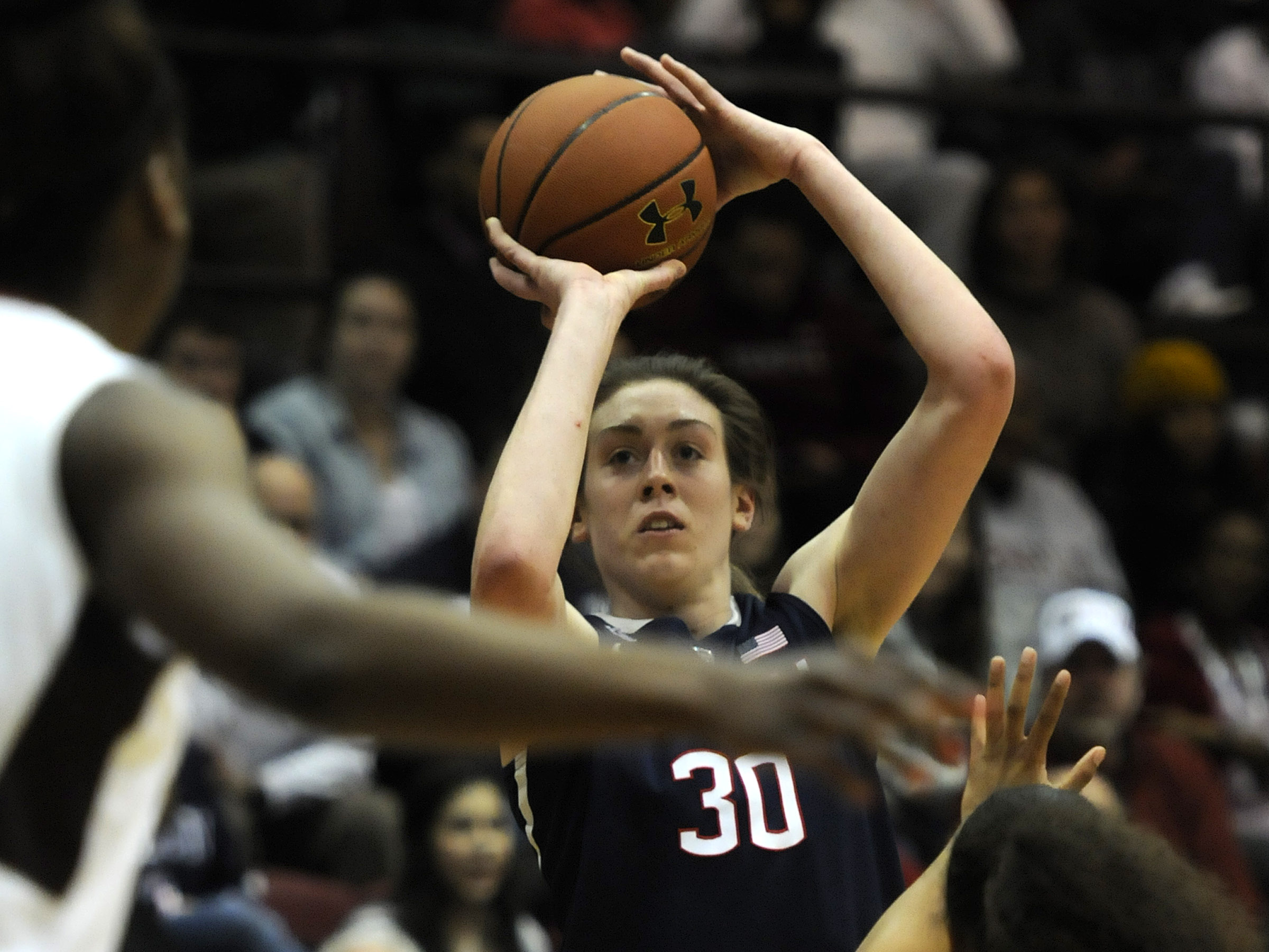 Stewart adds two of her 37 points,  a game high. in the 93-56 win over Temple.