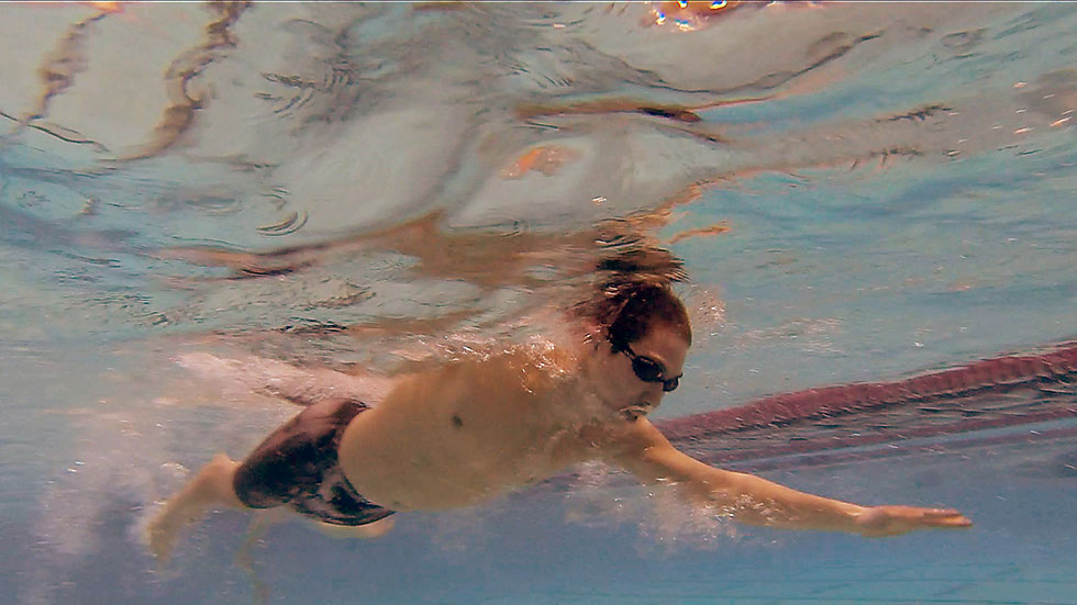 The Class LL boys swimming championship was held at the Freeman Athletic Center in the Wesleyan Natatorium Wednesday afternoon. As swimmers warmup for the meet I used my GoPro Hero3 to capture some underwater images, this one stuck out of the bunch.