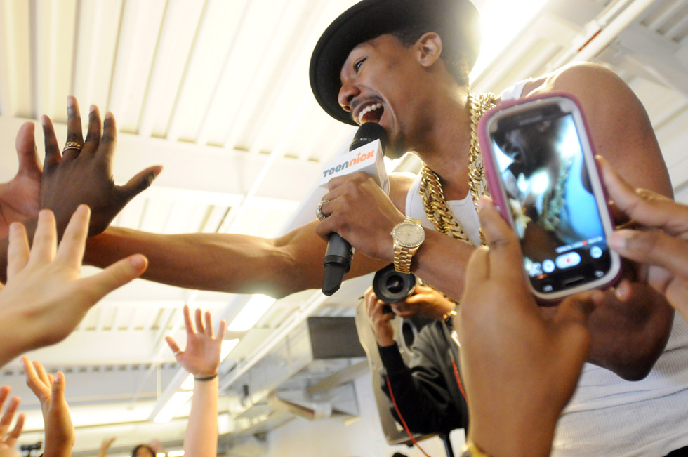 "Thanks to a local radio contest, CREC Greater Hartford Academy of the Arts had a special ""principal of the day"" Wednesday: Nick Cannon, the MTV-generation actor and host of America's Got Talent. Cannon performed and posed in photos with students at the school"